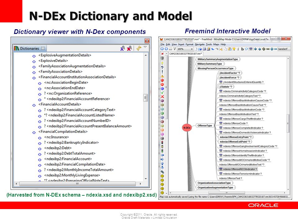 N-DEx Dictionary and Model