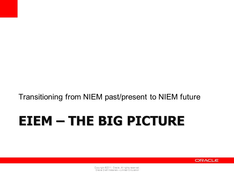 Transitioning from NIEM past/present to NIEM future
