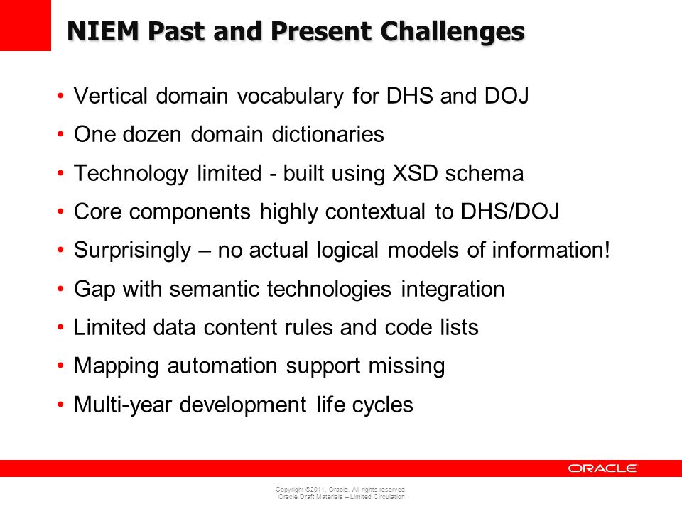 NIEM Past and Present Challenges