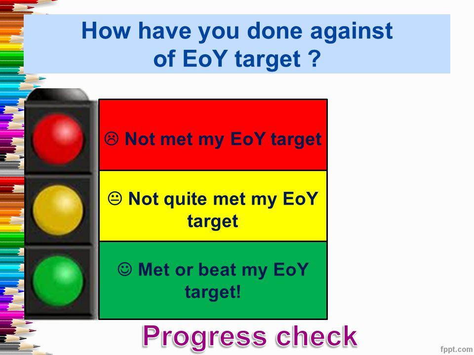 How have you done against of EoY target