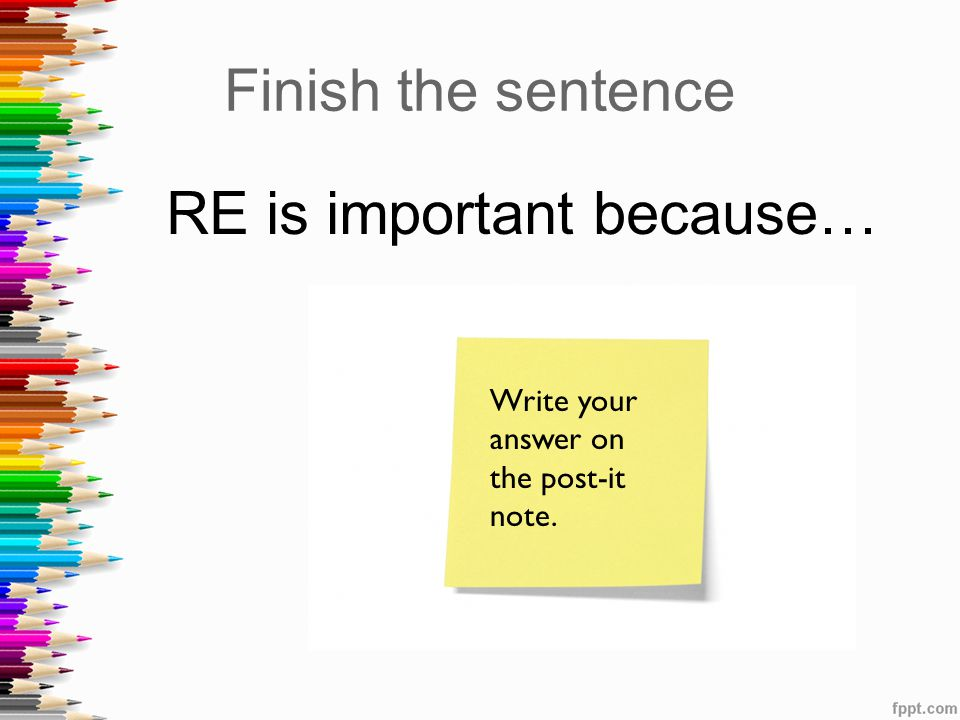 RE is important because…