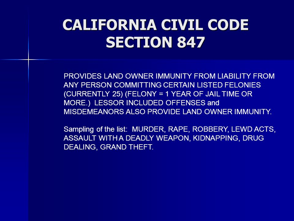 CALIFORNIA CIVIL CODE SECTION 847