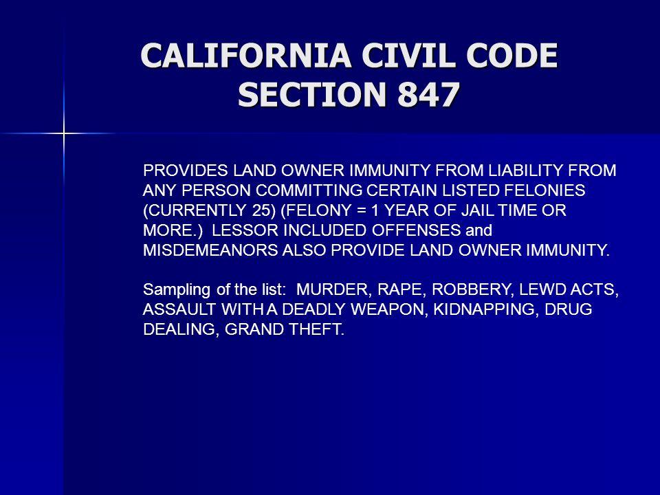 CALIFORNIA CIVIL CODE SECTION 847