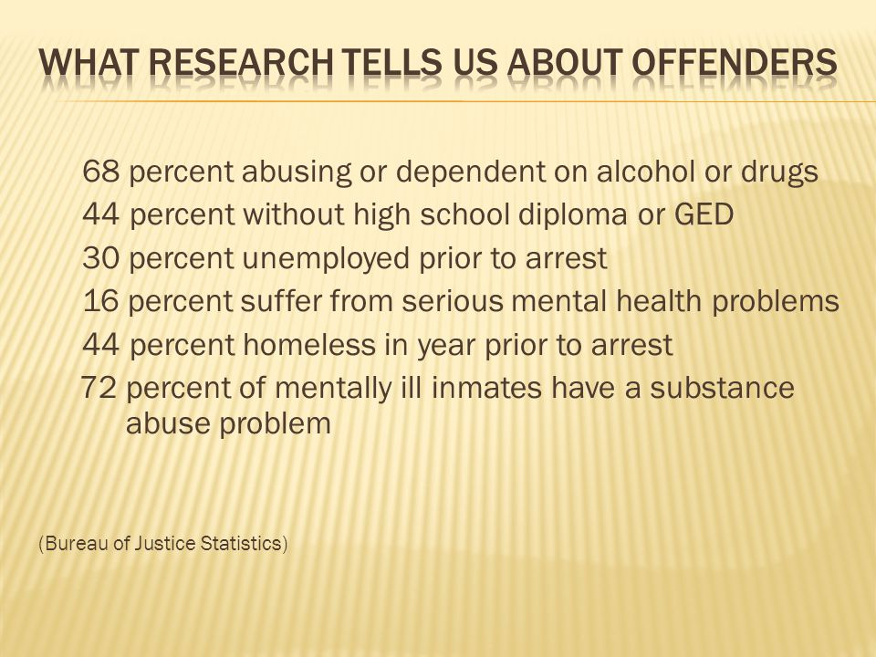 What research tells us about offenders