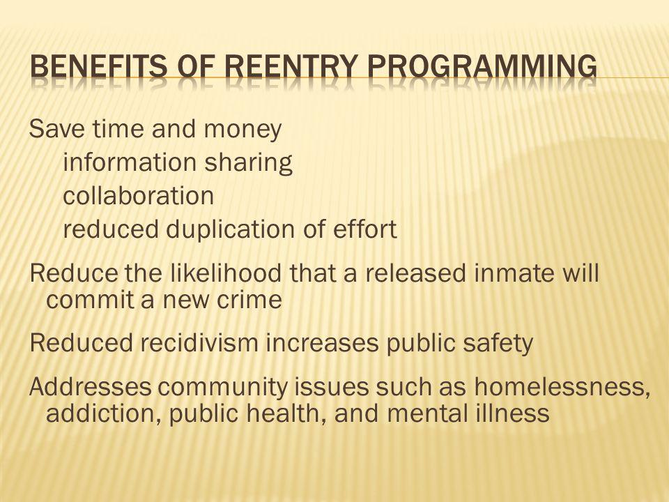 Benefits of reentry programming