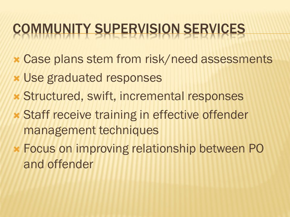 Community supervision services