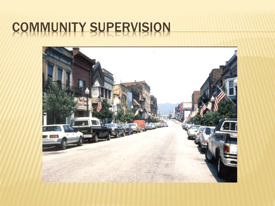 Community supervision