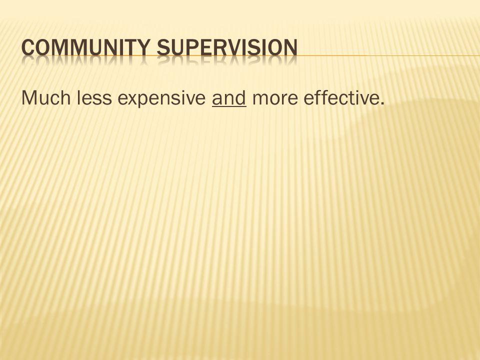 Community supervision