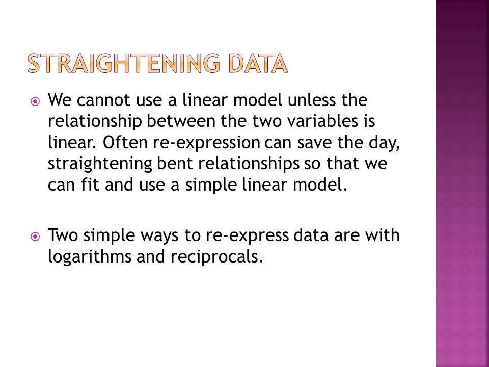 Straightening data
