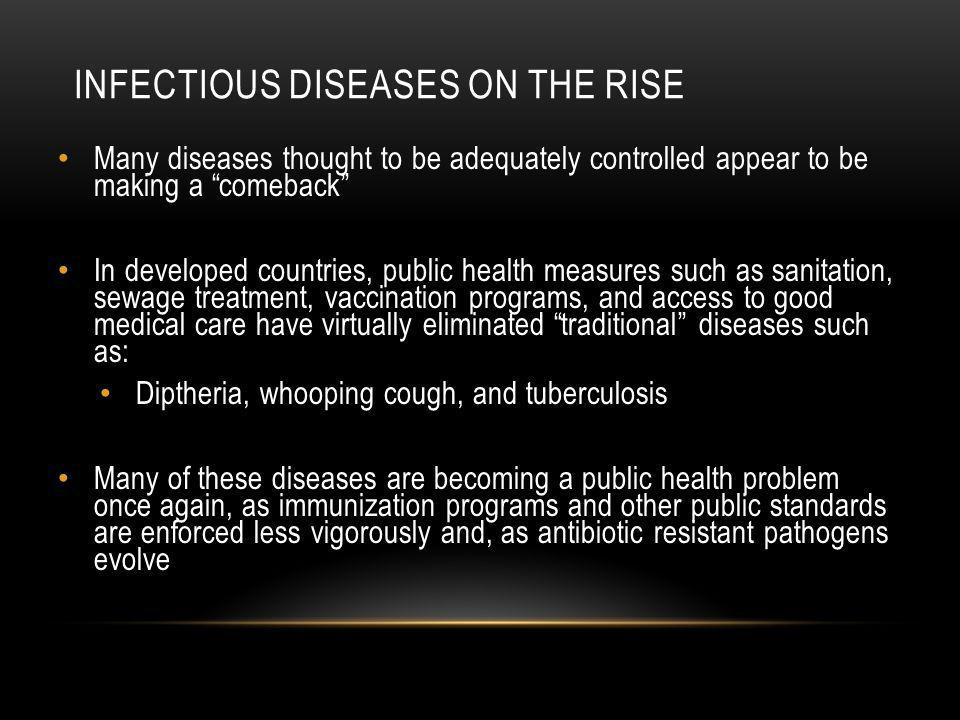 Infectious diseases on the rise