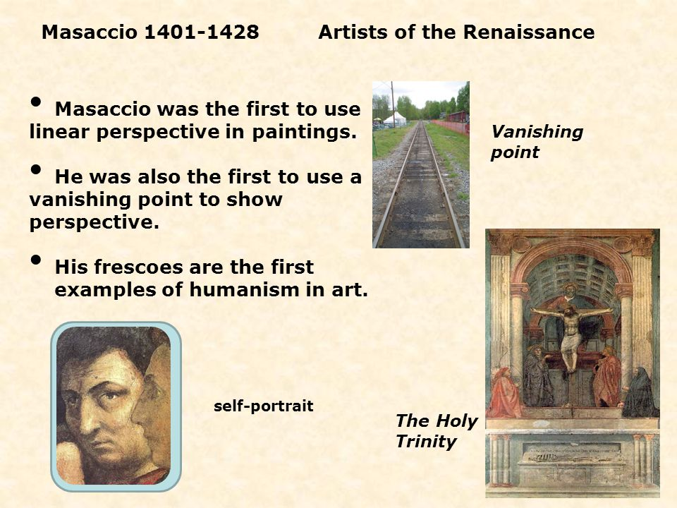 Masaccio 1401-1428 Artists of the Renaissance
