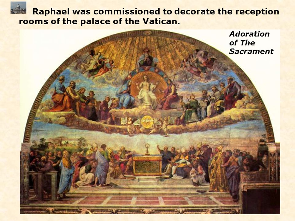 Raphael was commissioned to decorate the reception