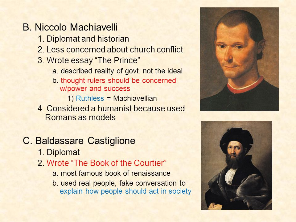 C. Baldassare Castiglione
