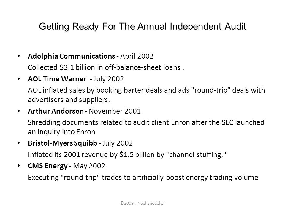 Getting Ready For The Annual Independent Audit