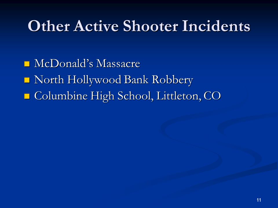 Other Active Shooter Incidents