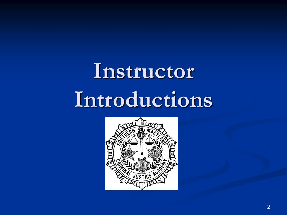 Instructor Introductions