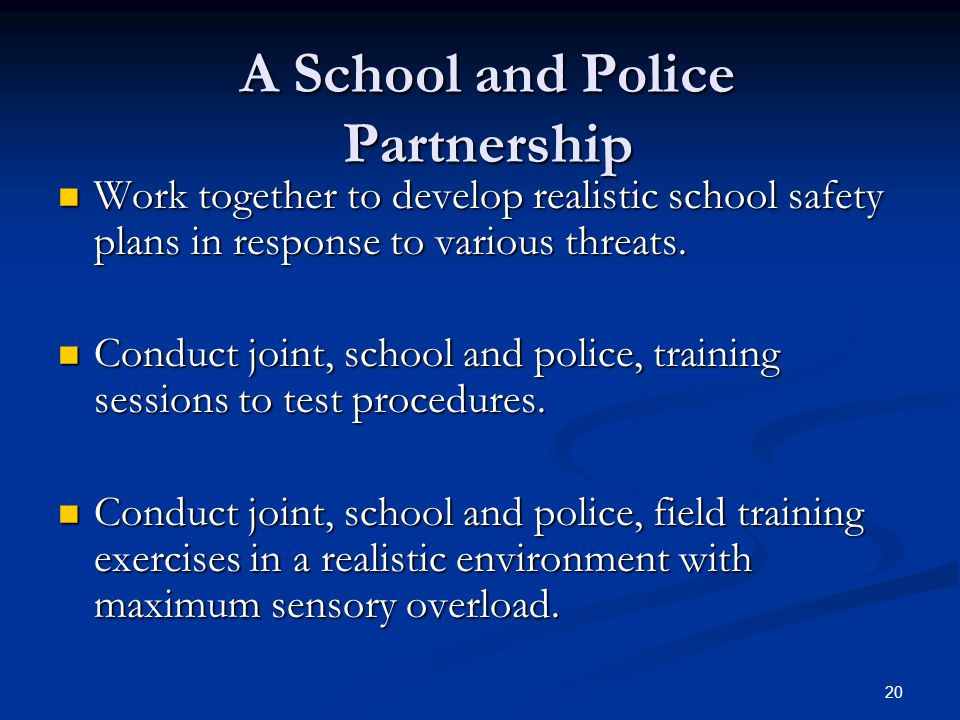 A School and Police Partnership