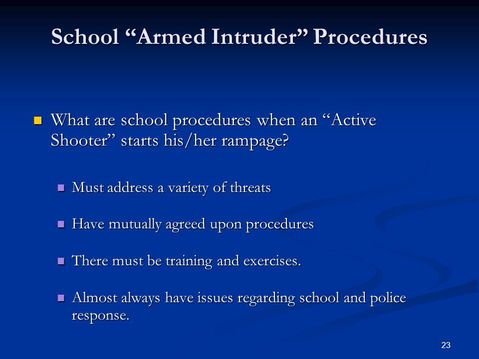 School Armed Intruder Procedures