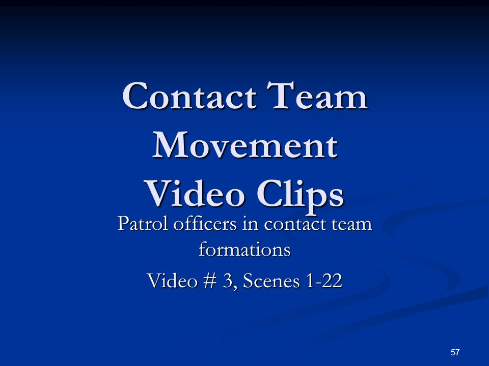Contact Team Movement Video Clips