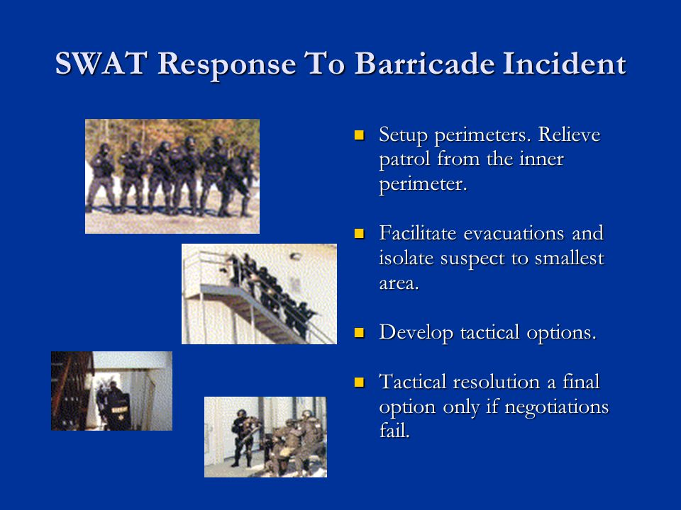 SWAT Response To Barricade Incident