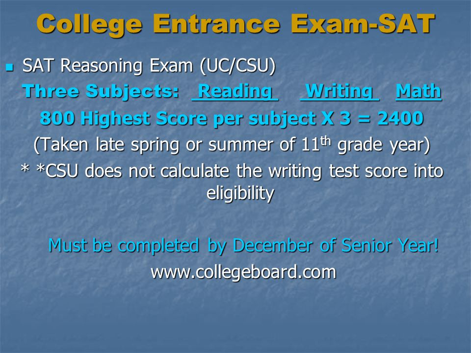 College Entrance Exam-SAT