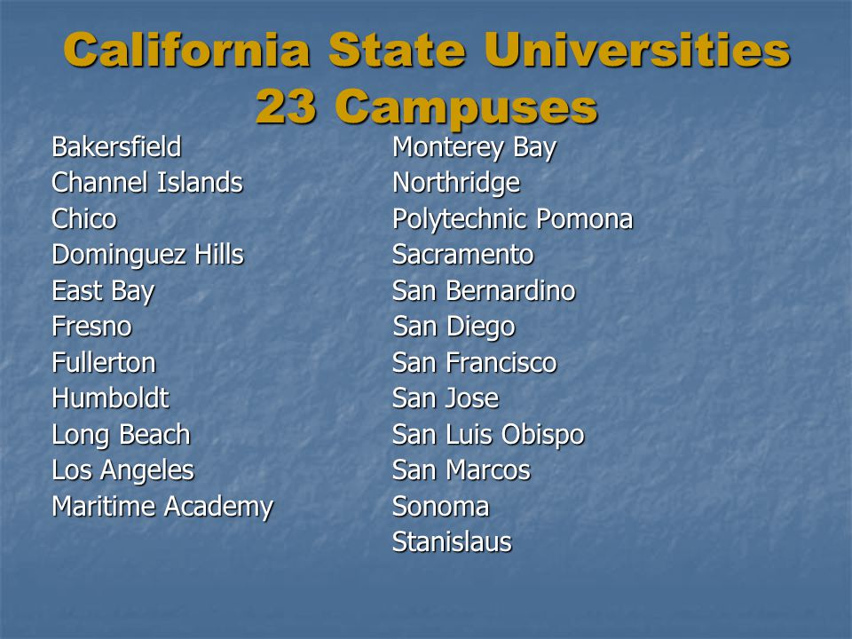 California State Universities 23 Campuses