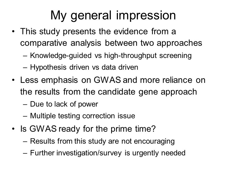 My general impression This study presents the evidence from a comparative analysis between two approaches.