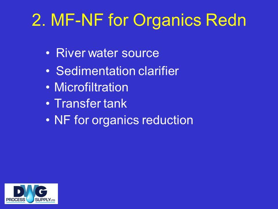 2. MF-NF for Organics Redn