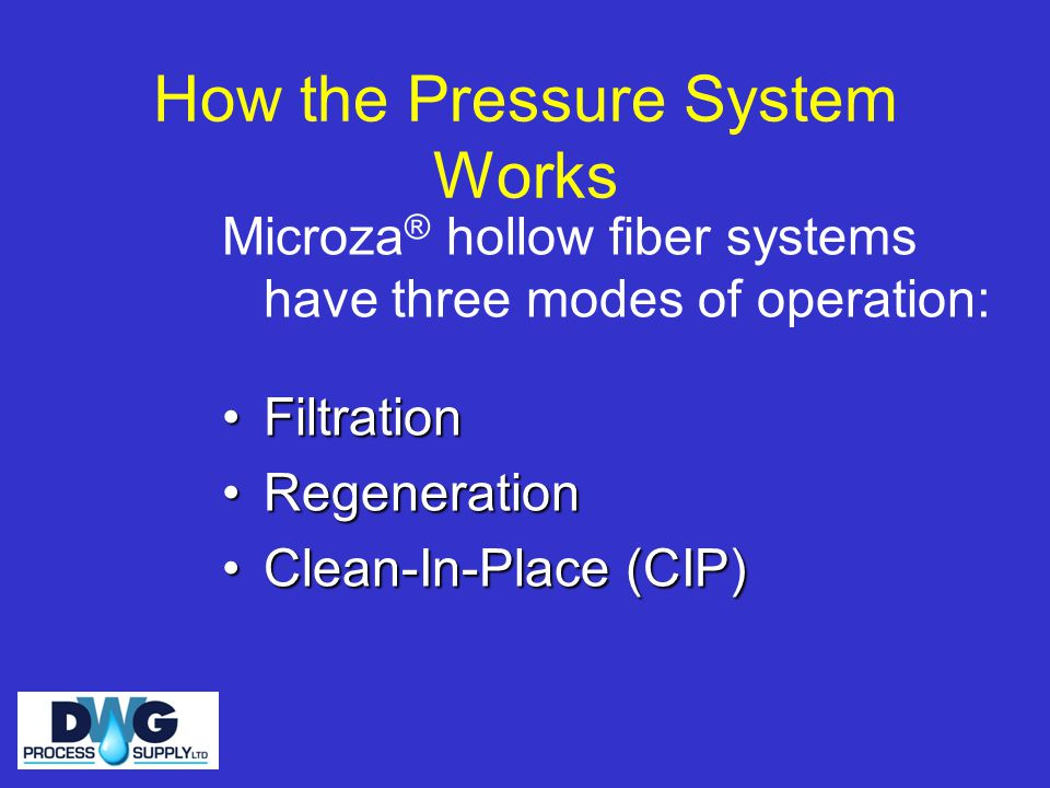 How the Pressure System Works