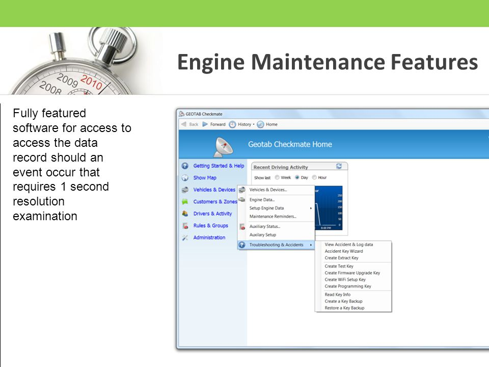 Engine Maintenance Features