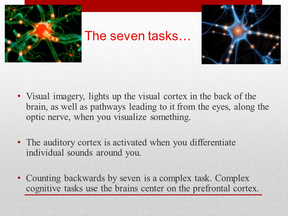 The seven tasks…