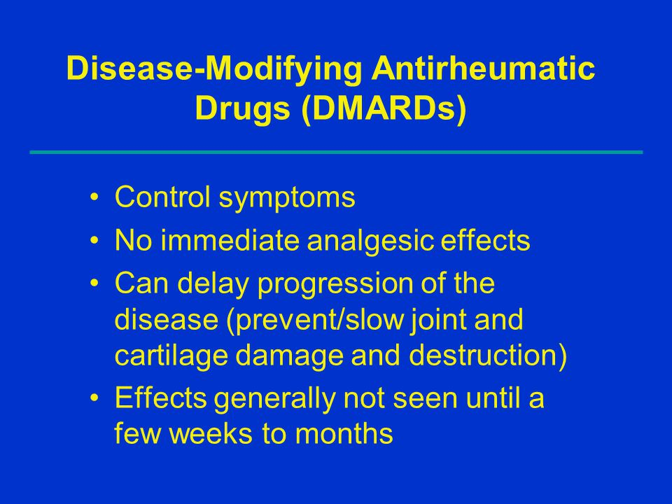 Disease-Modifying Antirheumatic Drugs (DMARDs)