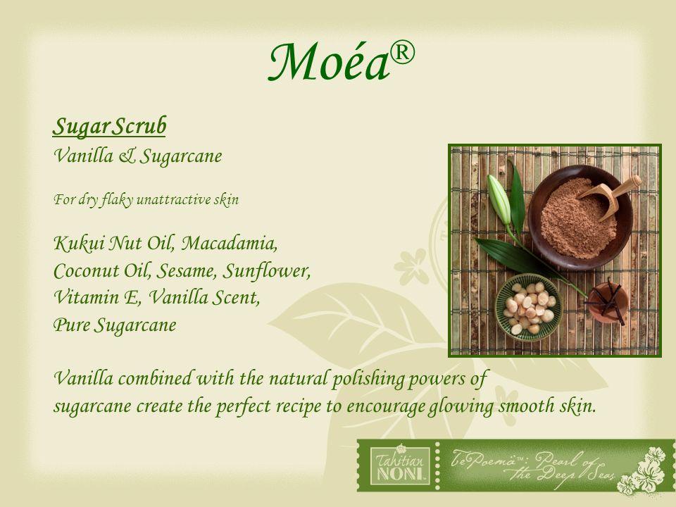 Moéa® Sugar Scrub Vanilla & Sugarcane Kukui Nut Oil, Macadamia,