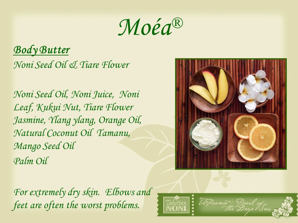 Moéa® Body Butter Noni Seed Oil & Tiare Flower