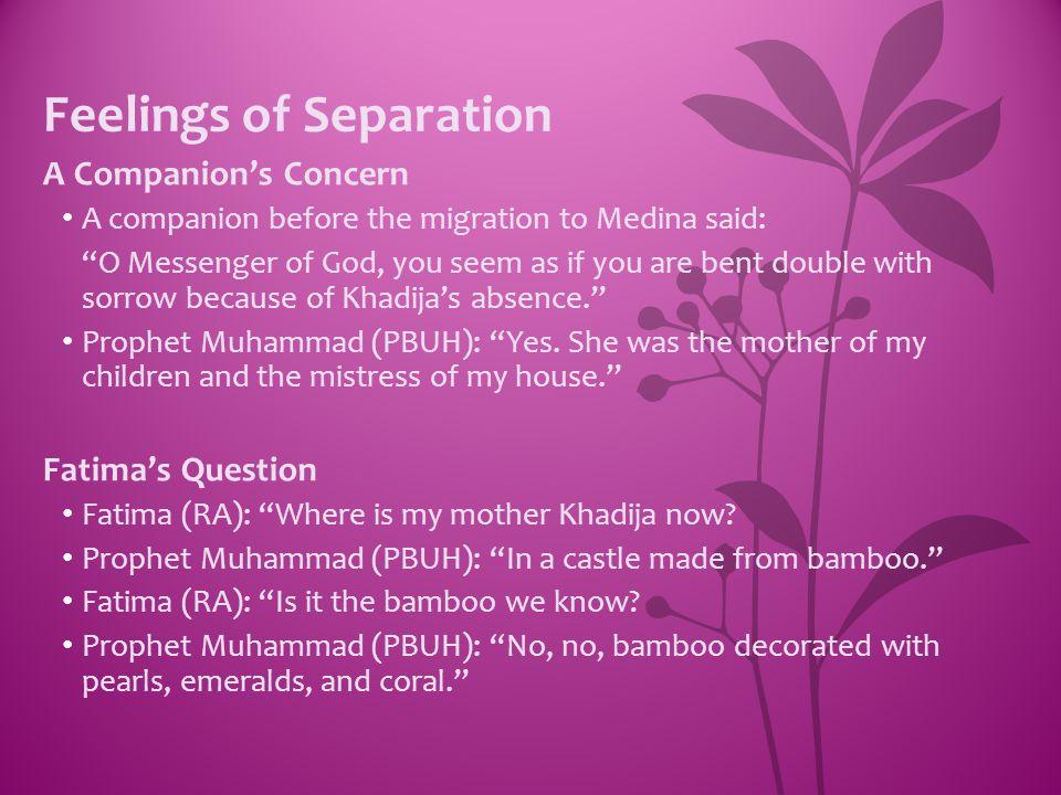 Feelings of Separation