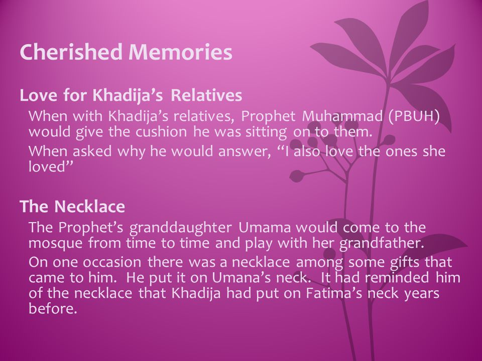 Cherished Memories Love for Khadija's Relatives The Necklace