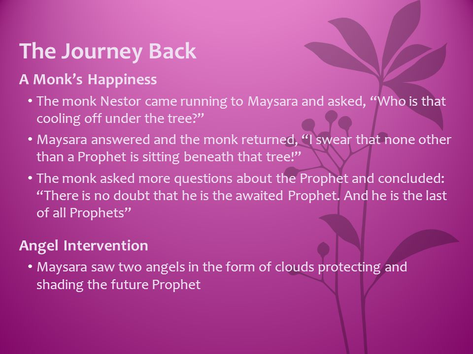 The Journey Back A Monk's Happiness Angel Intervention