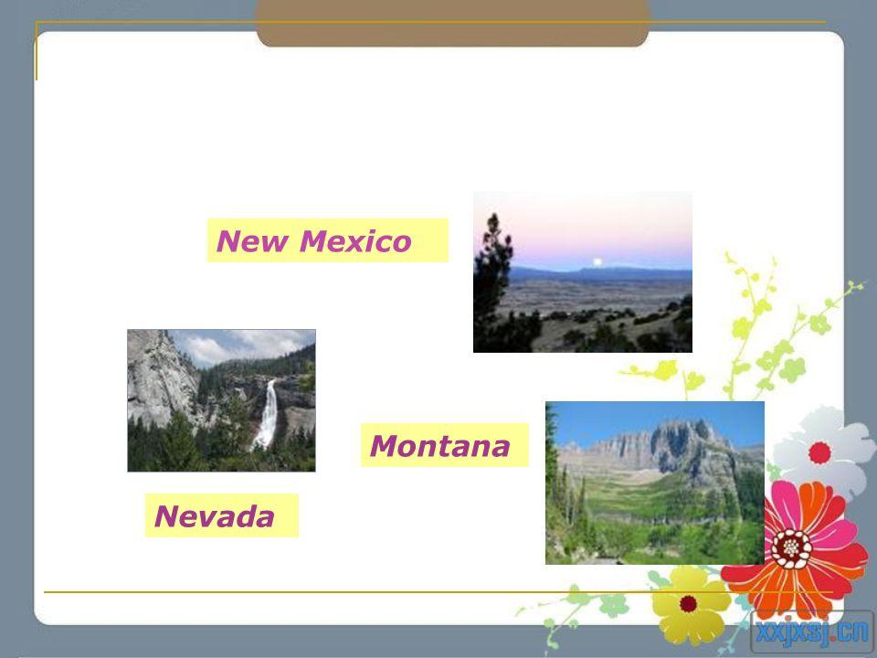New Mexico Montana Nevada