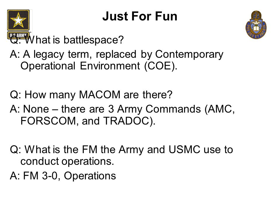 Just For Fun Q: What is battlespace