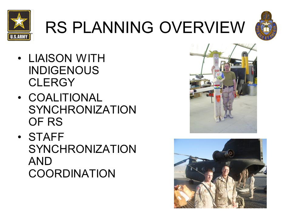 RS PLANNING OVERVIEW LIAISON WITH INDIGENOUS CLERGY