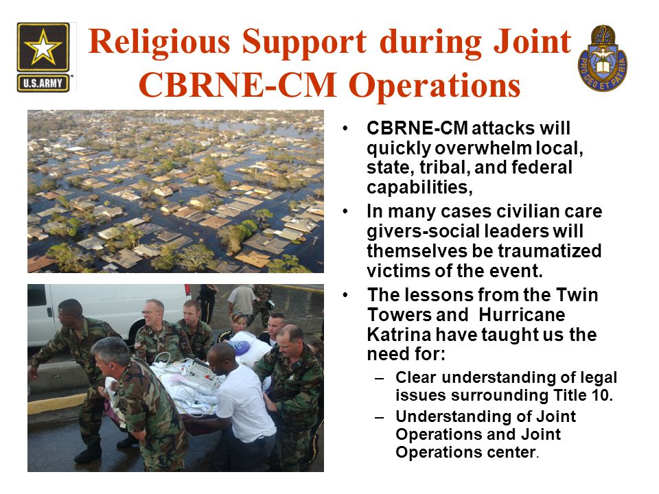 Religious Support during Joint CBRNE-CM Operations