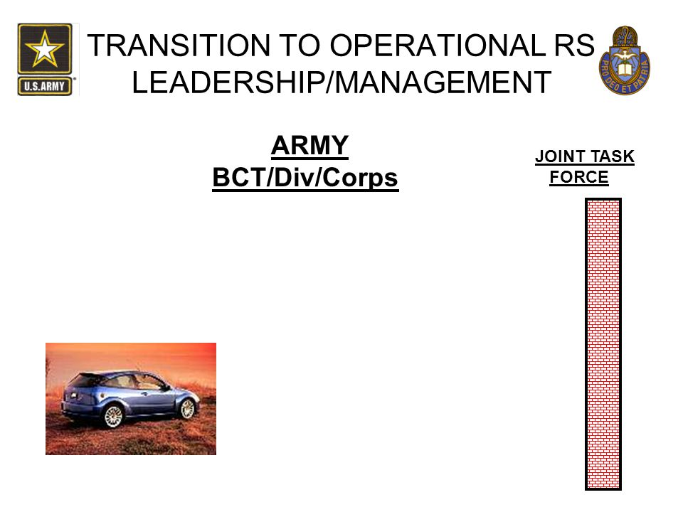 TRANSITION TO OPERATIONAL RS LEADERSHIP/MANAGEMENT