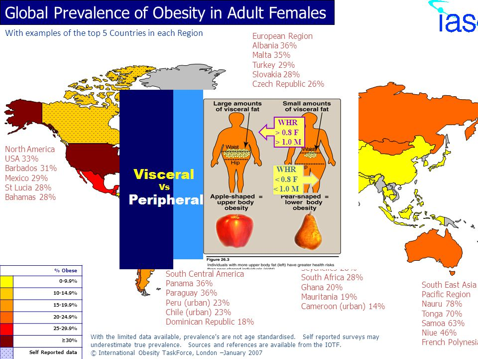 Global Prevalence of Obesity in Adult Females