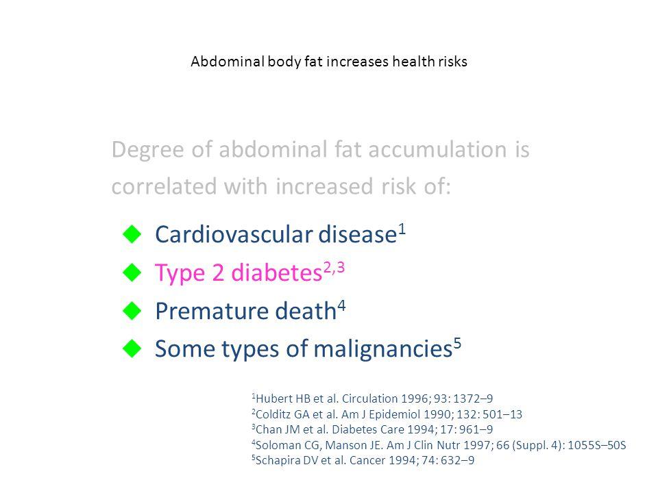 Abdominal body fat increases health risks