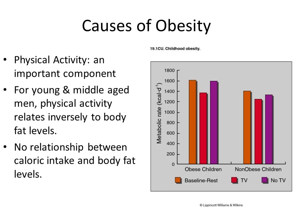 Causes of Obesity Physical Activity: an important component
