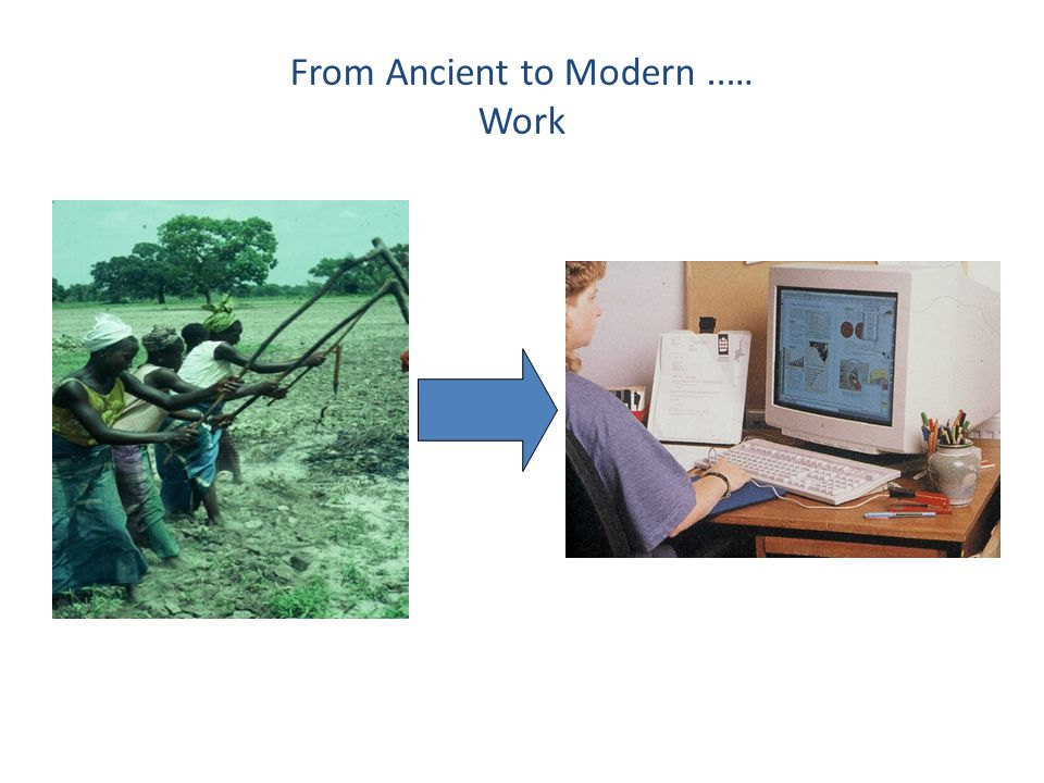 From Ancient to Modern ..… Work