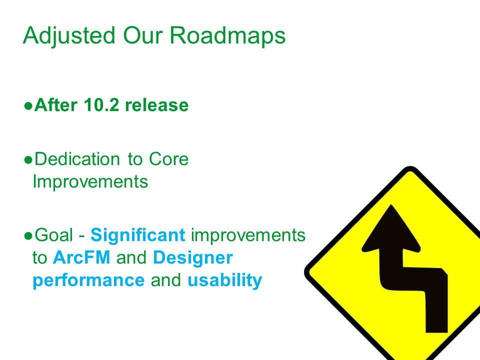 Adjusted Our Roadmaps After 10.2 release