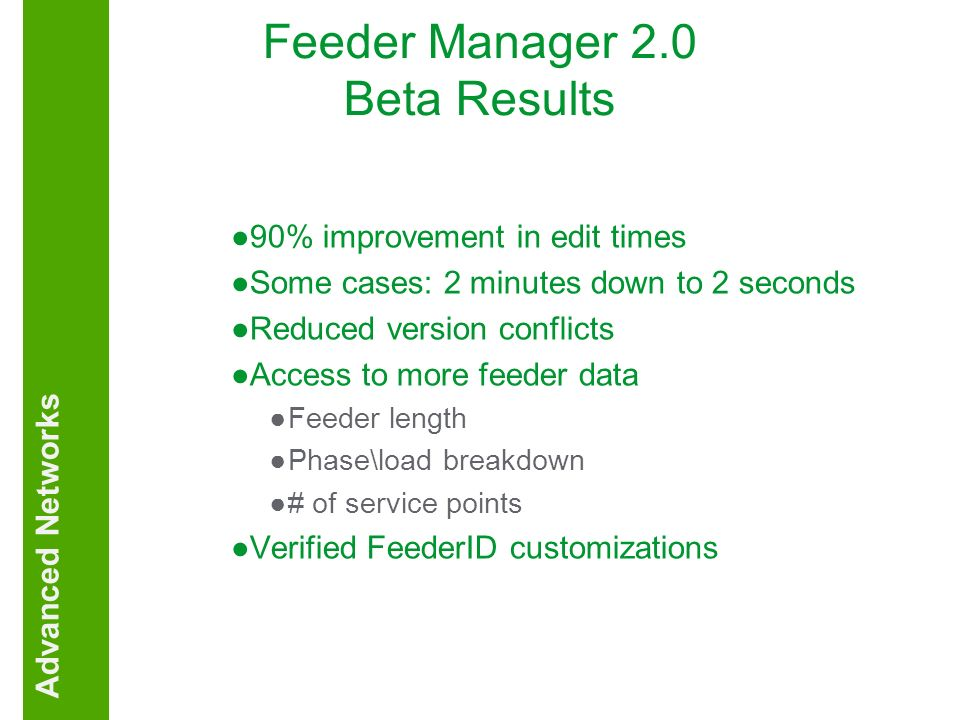 Feeder Manager 2.0 Beta Results