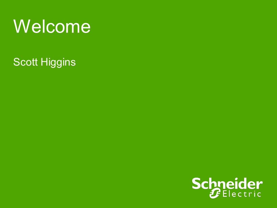 Welcome Scott Higgins.