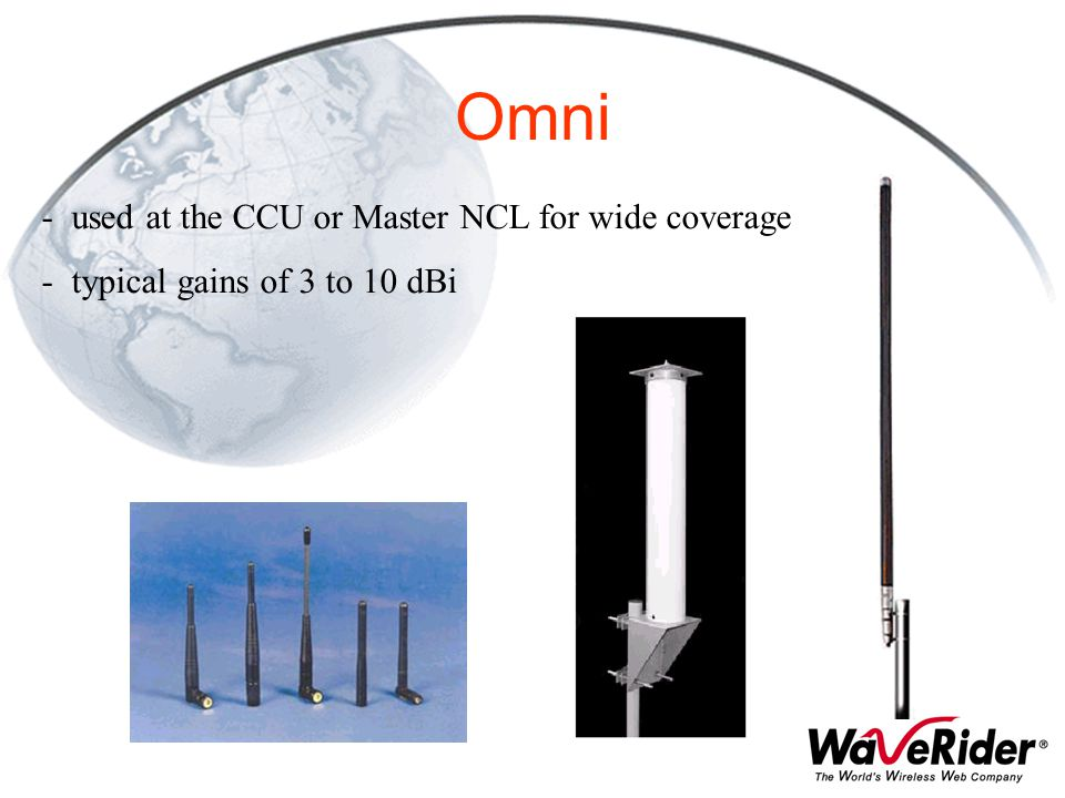 Omni used at the CCU or Master NCL for wide coverage